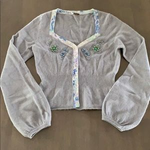 Free People Embellished Sweater XS